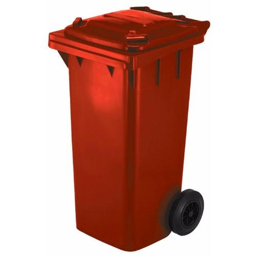 Avfallsbehållare 120 l, Röd