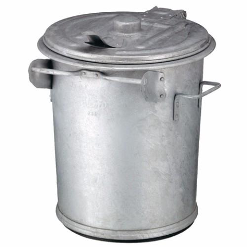 Avfallsbehållare i varmgalvaniserat stål, 70 l