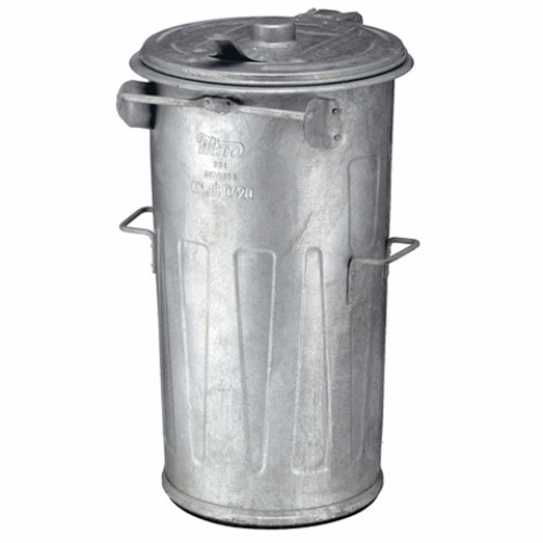 Avfallsbehållare i varmgalvaniserat stål, 90 l