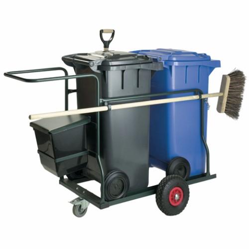 Vagn med 2x120 l avfallsbehållare