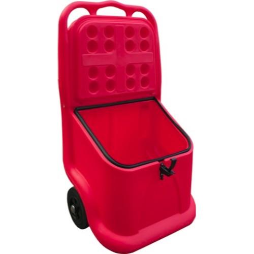 Mobil vagn med låsbart lock röd