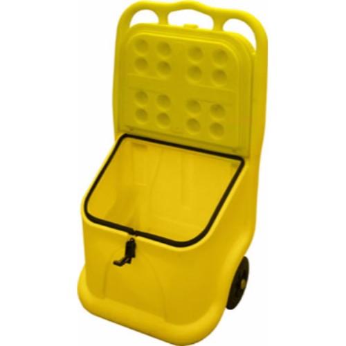 Mobil vagn med låsbart lock gul